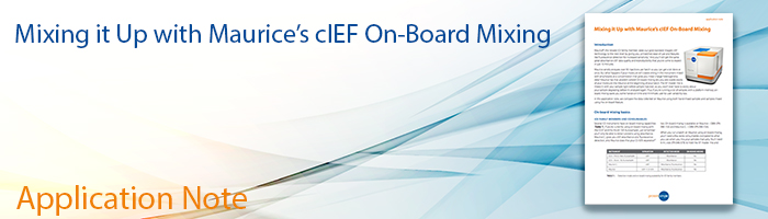 Application Note: Maurice's cIEF On-Board Mixing